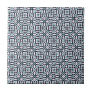Geometric floral pattern Tile