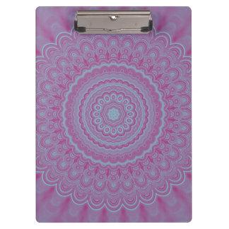 Geometric flower mandala clipboard