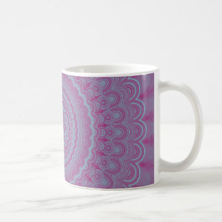 Geometric flower mandala coffee mug