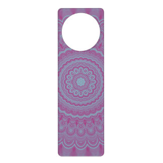 Geometric flower mandala door hanger