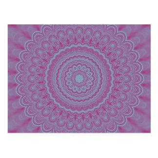 Geometric flower mandala postcard