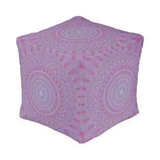 Geometric flower mandala pouf