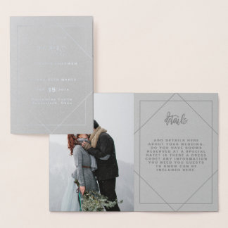 GEOMETRIC FOIL WEDDING INVITATION