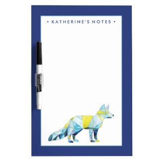 Geometric Fox Animal Dry Erase Board