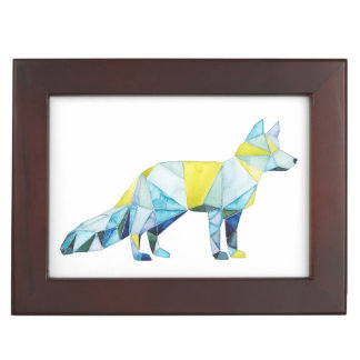 Geometric Fox Animal Keepsake Box