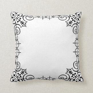 Geometric frame cushion