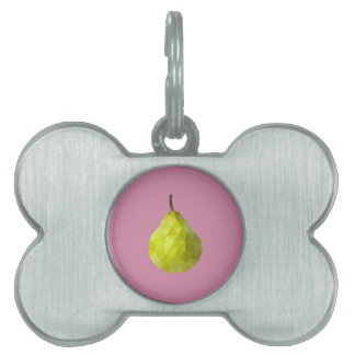 Geometric Fruit Pet ID Tags
