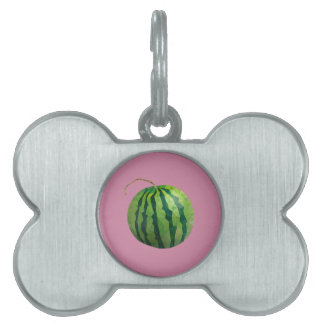 Geometric Fruit Pet Name Tag