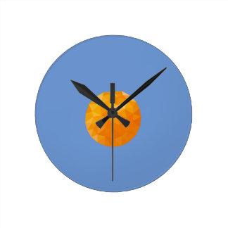 Geometric Fruit Round Clock