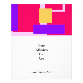 Geometric Fun pink 11.5 Cm X 14 Cm Flyer
