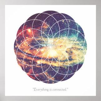 Geometric Galaxy #1 Poster