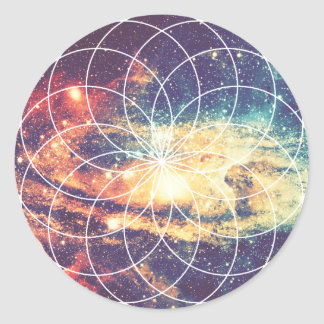 Geometric Galaxy #1 Sticker