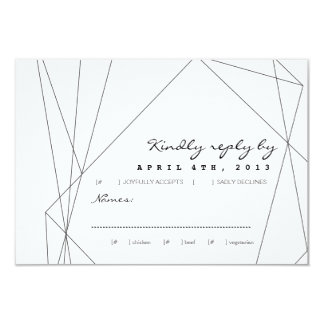 Geometric Gemstone RSVP Response Card 9 Cm X 13 Cm Invitation Card