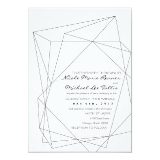 Geometric Gemstone Wedding Invitation