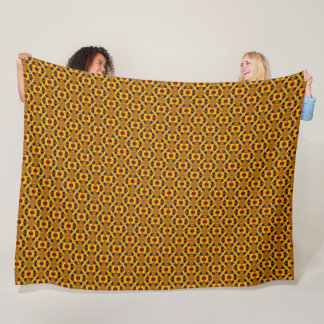 Geometric Giraffe Animal Print Fleece Blanket