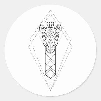 Geometric - Giraffe Sticker