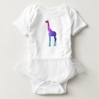 Geometric Giraffe with Vibrant Colors Gift Idea Baby Bodysuit