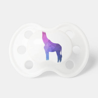 Geometric Giraffe with Vibrant Colors Gift Idea Pacifiers
