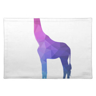Geometric Giraffe with Vibrant Colors Gift Idea Placemat