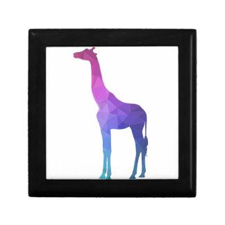 Geometric Giraffe with Vibrant Colors Gift Idea Small Square Gift Box