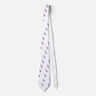 Geometric Giraffe with Vibrant Colors Gift Idea Tie