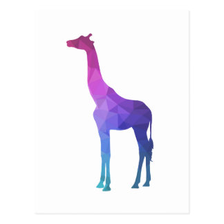Geometric Giraffe with Vibrant Colours Gift Idea Postcard