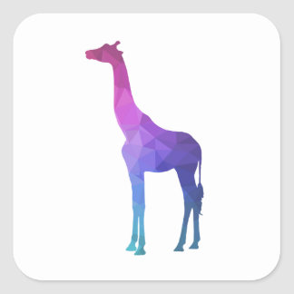 Geometric Giraffe with Vibrant Colours Gift Idea Square Sticker