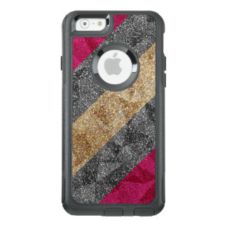 Geometric Glitter Stripes iPhone OtterBox Case