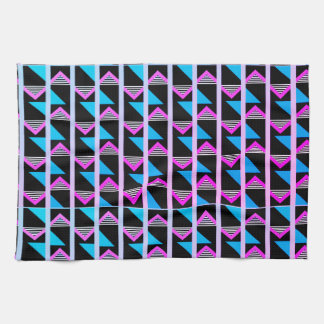 geometric glow tea towel