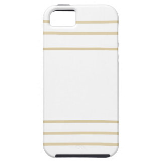Geometric Gold Concentric Squares Case For The iPhone 5