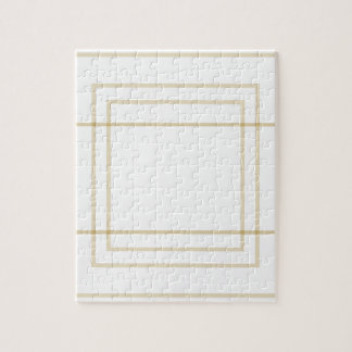 Geometric Gold Concentric Squares Jigsaw Puzzle