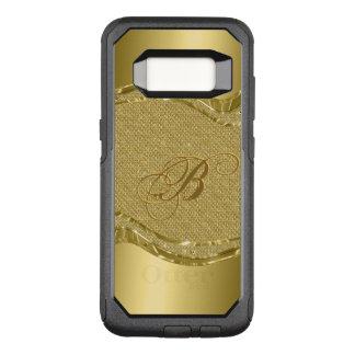 Geometric Gold & Diamonds Texture With Monogram OtterBox Commuter Samsung Galaxy S8 Case