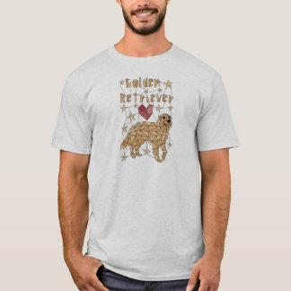 Geometric Golden Retriever T-Shirt
