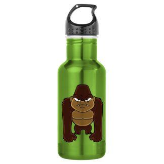 geometric gorilla.cartoon gorilla 532 ml water bottle
