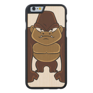 geometric gorilla.cartoon gorilla carved® maple iPhone 6 slim case