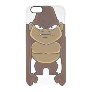 geometric gorilla.cartoon gorilla clear iPhone 6/6S case