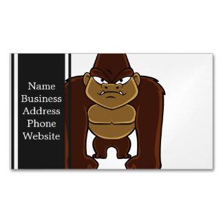 geometric gorilla.cartoon gorilla magnetic business cards