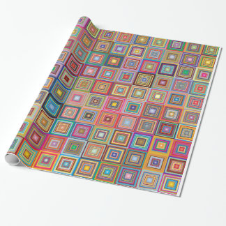 Geometric Granny Squares Wrapping Paper