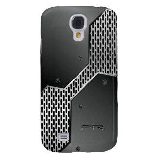 Geometric Gray Metallic Print Design Galaxy S4 Case