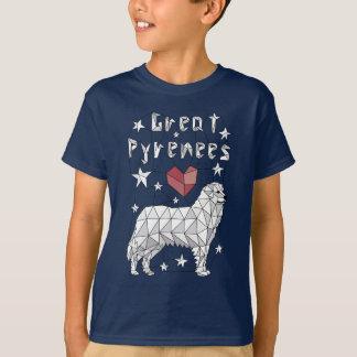 Geometric Great Pyrenees T-Shirt
