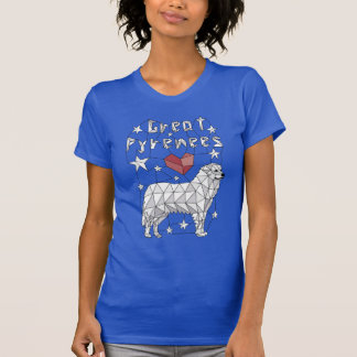 Geometric Great Pyrenees T-Shirt