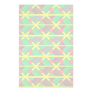 Geometric green abstract stationery paper