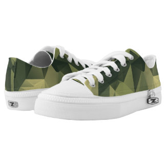 Geometric Green Camouflage. Camo your Low Tops
