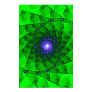 Geometric Green Fractal Stationery