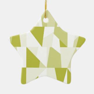 Geometric Green Pattern Ceramic Ornament