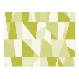 Geometric Green Pattern Postcard