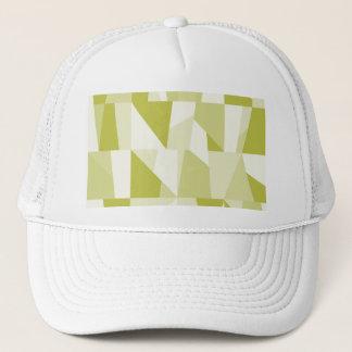 Geometric Green Pattern Trucker Hat
