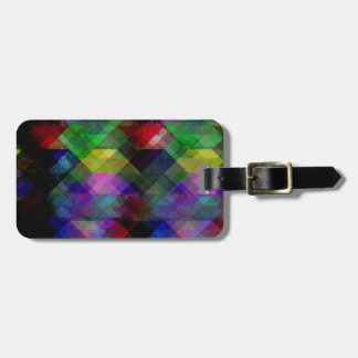 Geometric Grunge Abstract Luggage Tag