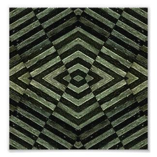 Geometric Grunge Background Photo Print