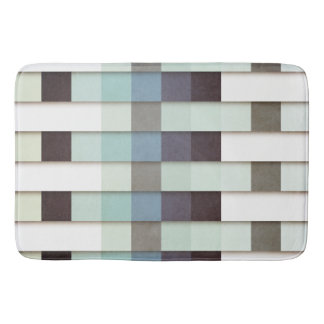 Geometric Grunge Graphic Bath Mat